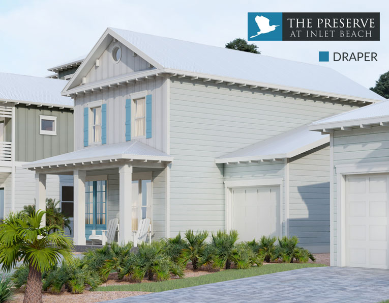 Draper floor plan The Preserve at Inlet Beach Florida
