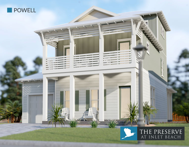 Powell floor plan The Preserve at Inlet Beach Florida