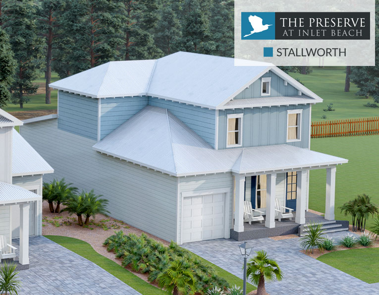 Stallworth floor plan The Preserve at Inlet Beach Florida