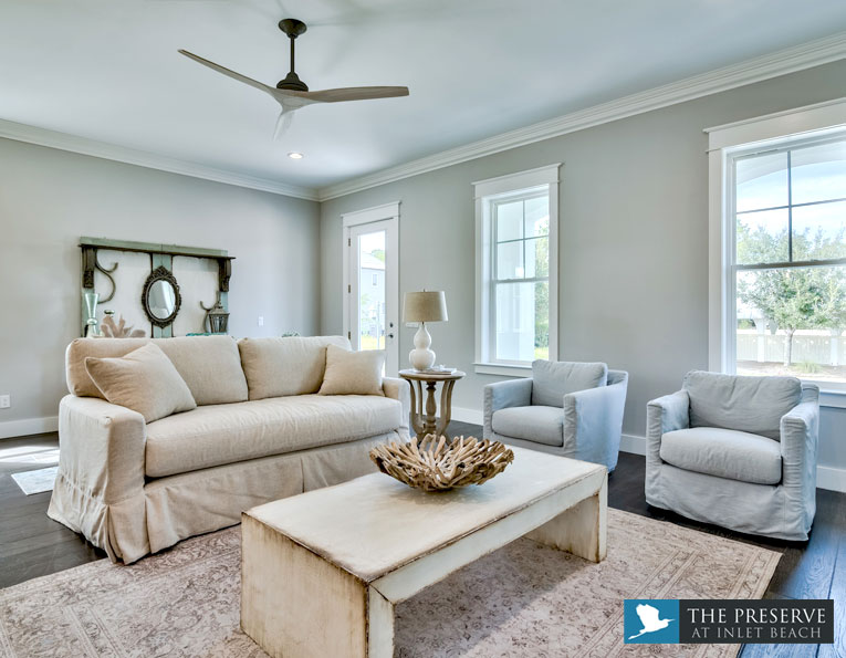 Preserve at Inlet Beach furnished living room