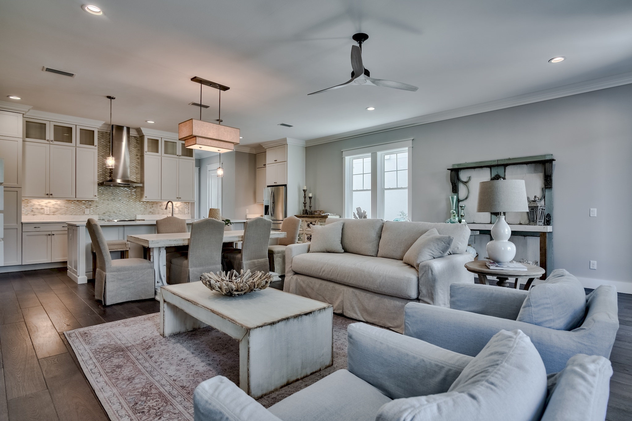 Living area for the Preserve at Inlet Beach model home