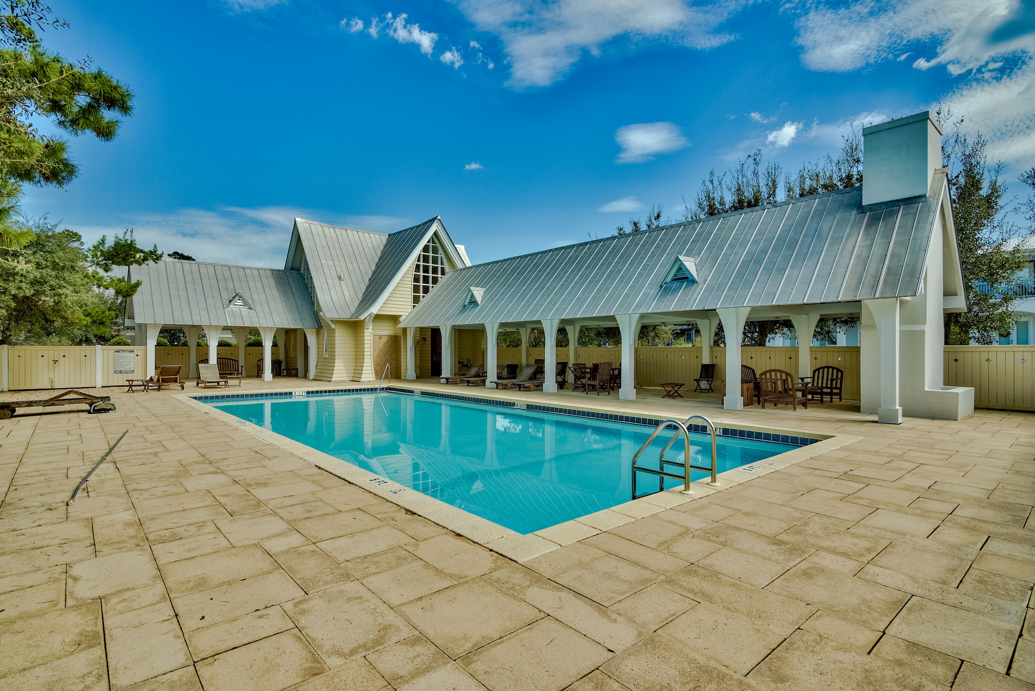 Pool and clubhouse which is one of the great amenities for The Preserve at Inlet Beach